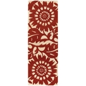 Zinnia Runner Rug in Red