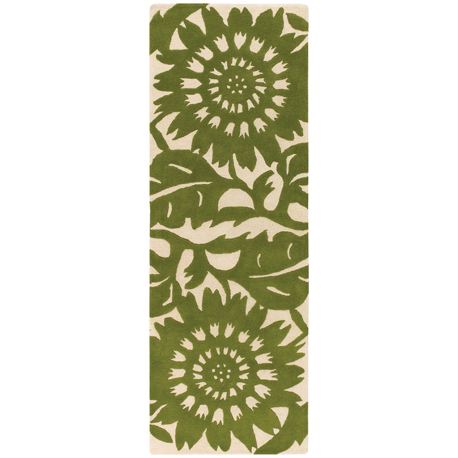 Green Runner Rug Simple Sale With