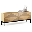 BDI Zona White Oak Contemporary Credenza