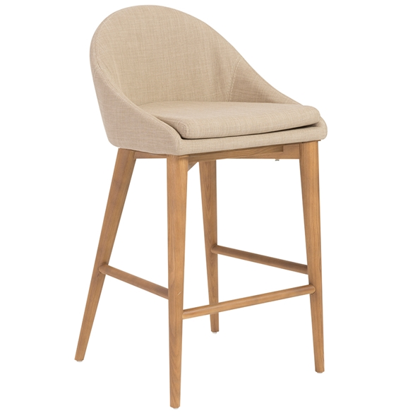 Baruch Modern Tan Counter Stool