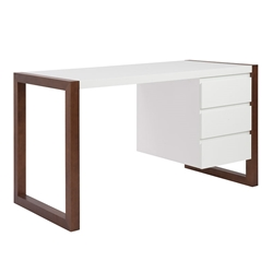 Manon modern desk with cabinet