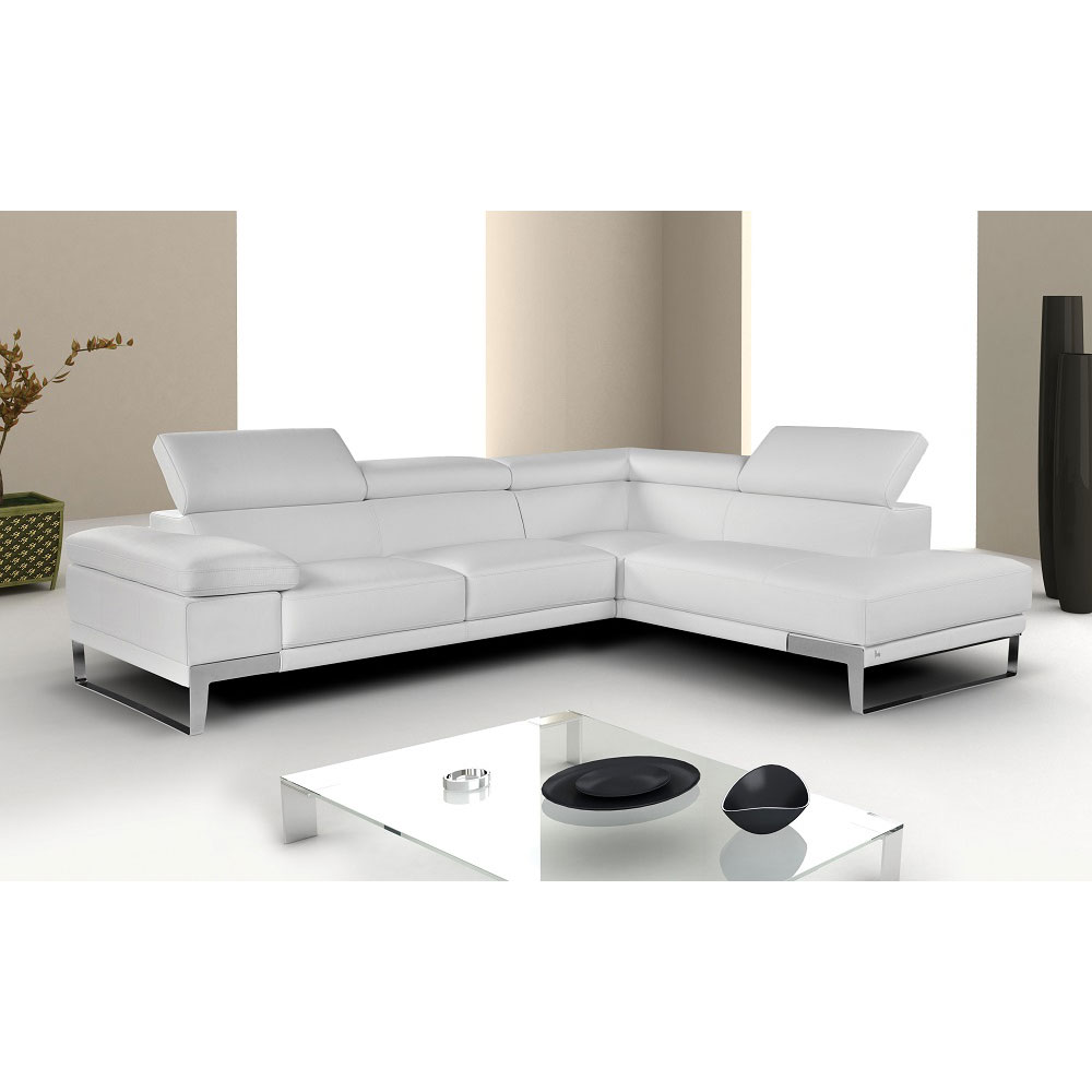 Nicoletti Modern Leather Sectional Collectic Home