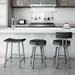Nathan, Barry + Bryce Counter Stools in Platina