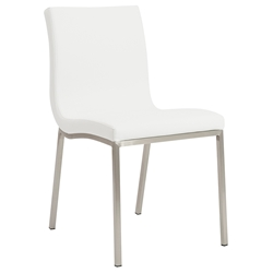 Scott Modern White Dining Chair