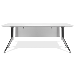 Trondheim 400 Collection 71 Inch White Desk